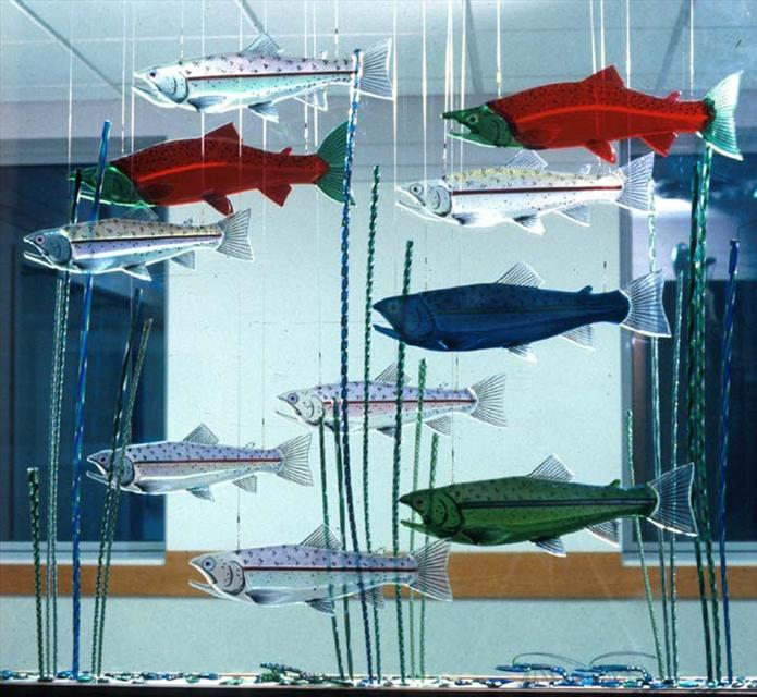 Picture of Dichroic Glass Trout/Salmon