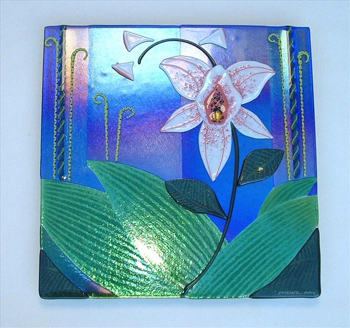 Picture of Glass Orchid Panel