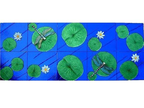 Glass Dragonfly Panel
