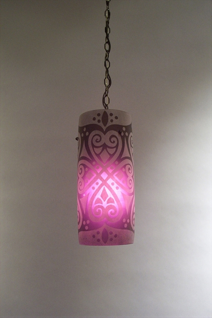 Picture of Pendant Light | Ruby Brocade
