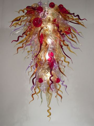 Blown Glass Chandelier 347
