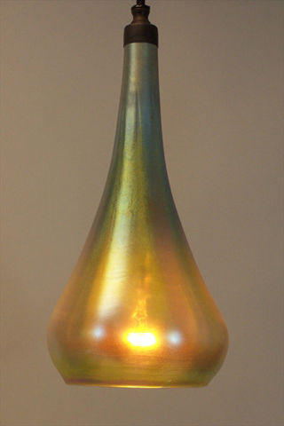 Pendant Light | Hanging Phoenix Morph | Gold Optic