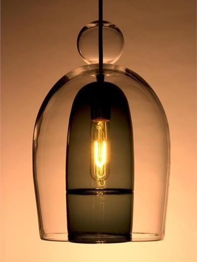 Picture of Pendant Light | Miro Veiled | Tall Shade with Ball