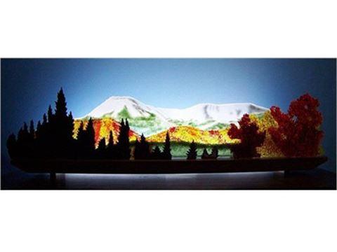 Early Snow on Mount Katahdin Glasscape Lighting Sculpture