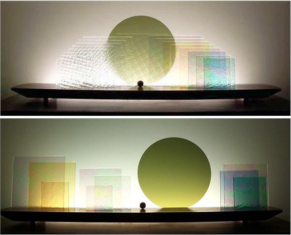 Picture of Square Ice Glasscape Lighting Sculpture
