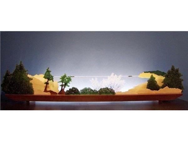 Picture of Rockbound Coast Glasscape Lighting Sculpture