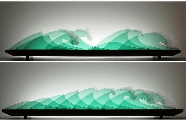 Picture of Ocean Laughter II Glasscape Lighting Sculpture
