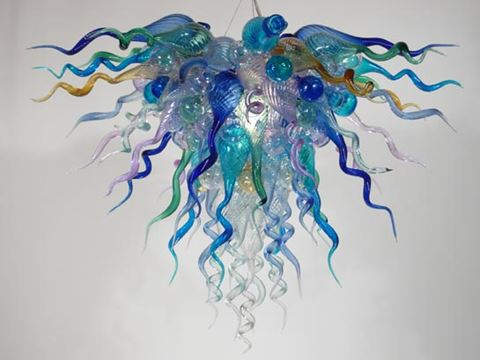 Blown Glass Chandelier 327