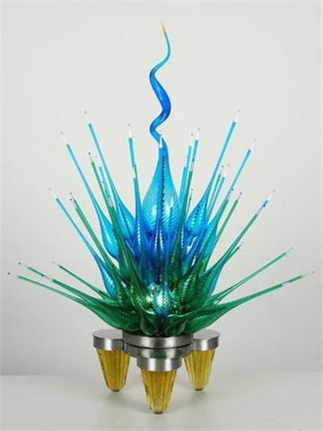 Summer Blossom Glass Sculpture