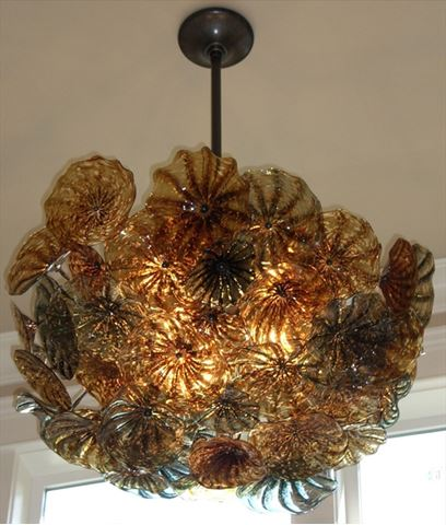 Blown Glass Chandelier - Flower Ball