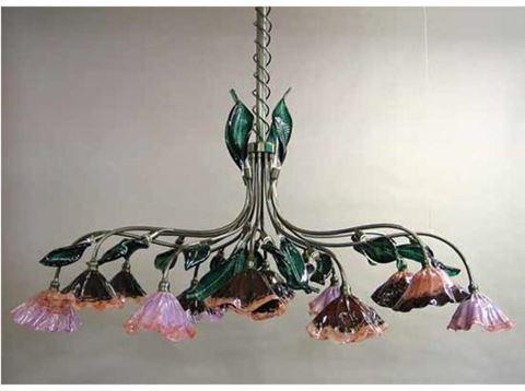 Blown Glass Chandelier - Pergola