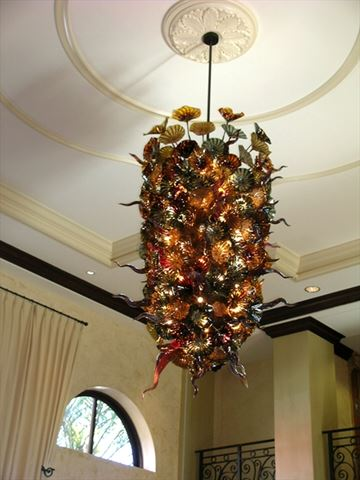 Blown Glass Chandelier - Naples Bay