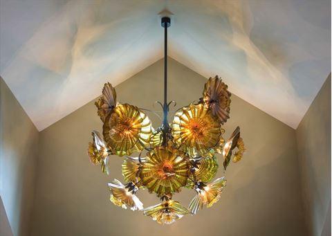 Blown Glass Chandelier - Peony