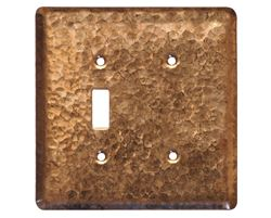 Picture of 2 gang Toggle-Blank Copper Switch Plate Cover