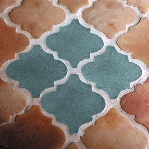 Glass Quatrefoil Tiles