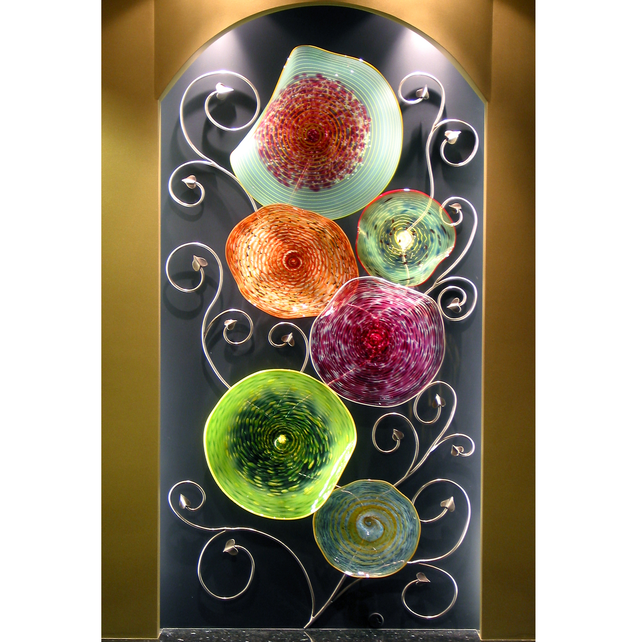 Picture of Blown Glass Platter Wall Art