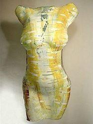 Picture of Chiffon Art Glass Torso Sculpture