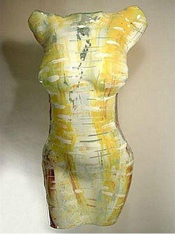Chiffon Art Glass Torso Sculpture