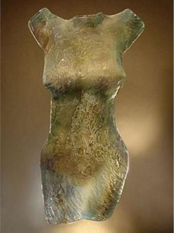Tidal Current Glass Torso Sculpture