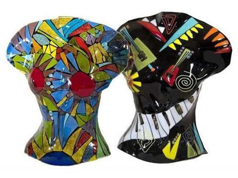 Temptation and Music Glass Sculpture