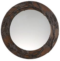Pine Bough Round Mirror