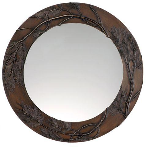 Pine Bough Round Mirror