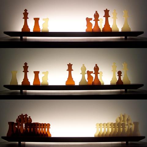 Checkmate Glasscape Lighting Sculpture