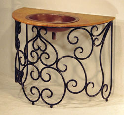 Picture of Hierro Remolino Marble and Copper Vanity