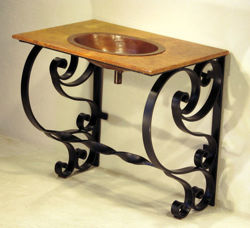 Picture of Hierro Voluta Marble and Copper Vanity