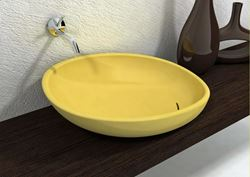 Yellow Ceramic Sink