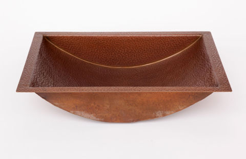 "20.5"" Trough Copper Bathroom Sink by SoLuna"