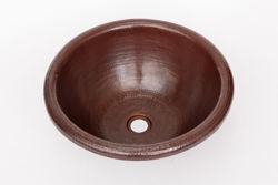 "Picture of 17"" Rimmed Round Copper Bathroom Sink by SoLuna"