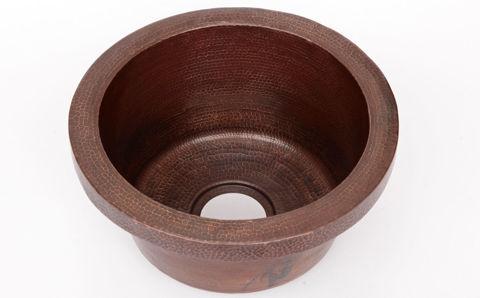 "16"" Rimmed Round Copper Prep Sink by SoLuna"