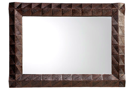 Picture of Double Fan Handcrafted Mirror