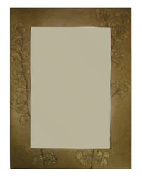 Ginkgo Branch Handcrafted Rectangle Mirror