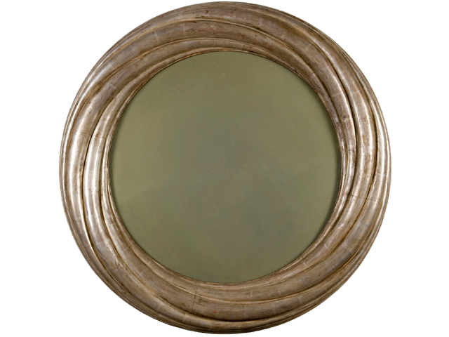 Picture of Hand-Carved Round Gold Leaf Mirror