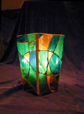 "Picture of ""Dance With Me"" Glass Mosaic Vase"