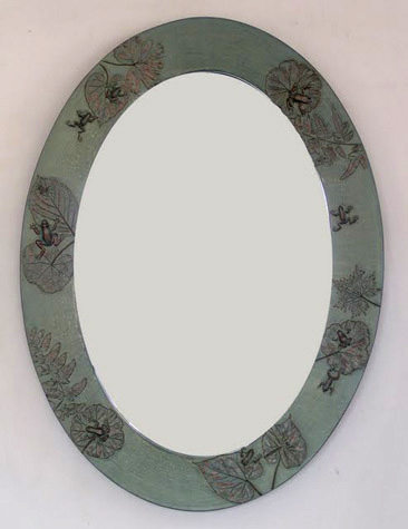 Picture of Frog Pond Handcrafted Oval Mirror