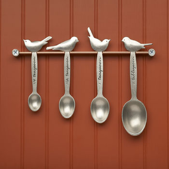 Picture of Beehive Handmade Bird Measuring Spoons with Rack