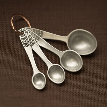 Picture of Beehive Handmade Flower Measuring Spoons