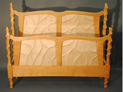 Carved Bed Queen Size