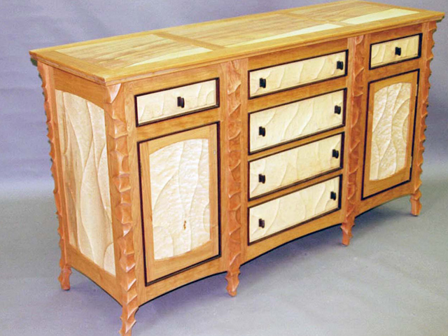 Picture of Sculpted Cherry Sideboard