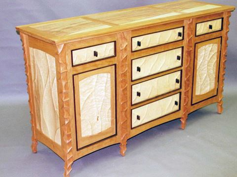 Sculpted Cherry Sideboard