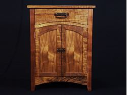 Picture of Arts and Crafts Figured Walnut Cabinet