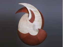 Picture of Maple and Purpleheart Wall Sculpture