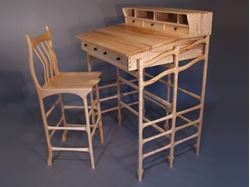 Picture of Stand Up Desk and Stool