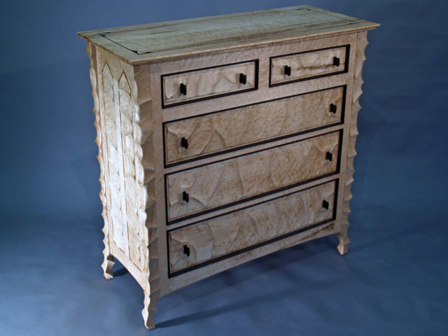 Picture of Sculpted Maple and Wenge Dresser