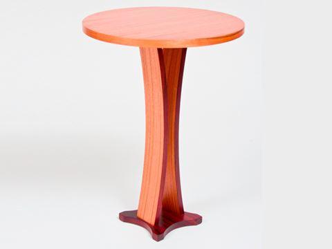 Bowed Pedestal Table