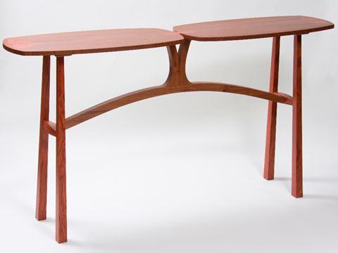 Walnut and Bubinga Side Table