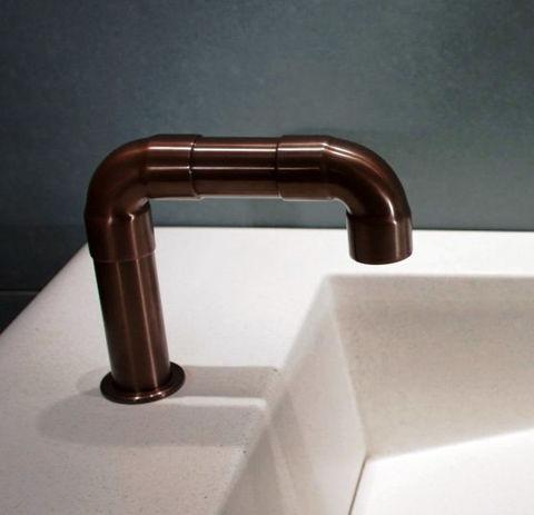 Sonoma Forge   Bathroom Faucet   Elbow Spout   Deck Mount   Hands Free